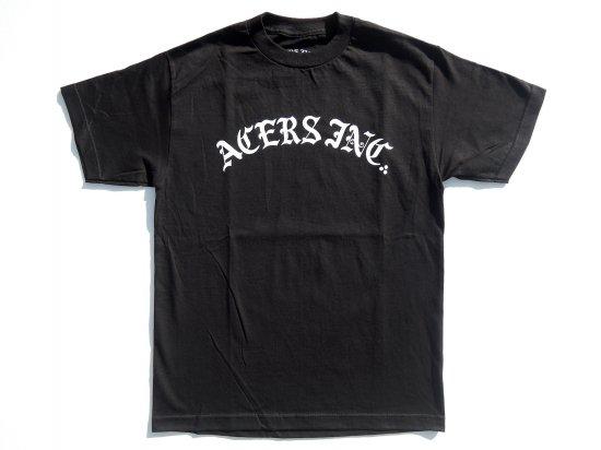ACERS INC. エーサーズ  3DOTS logo  S/S  Tシャツ BLACK