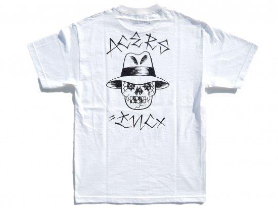 ACERS INC. エーサーズ  VATO SKULL  S/S Tシャツ WHITE