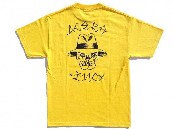 ACERS INC. エーサーズ VATO SKULL  S/S Tシャツ YELLOW
