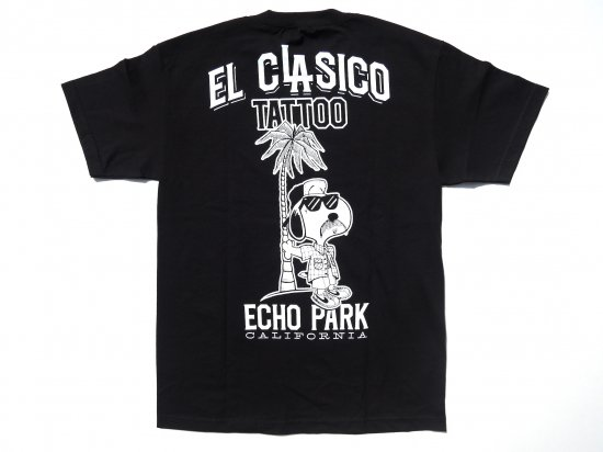 EL CLASICO TATTOO at ECHO PARK T-shirt BLACK