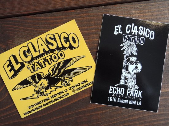 EL CLASICO TATTOO at ECHO PARK STICKER 2枚組