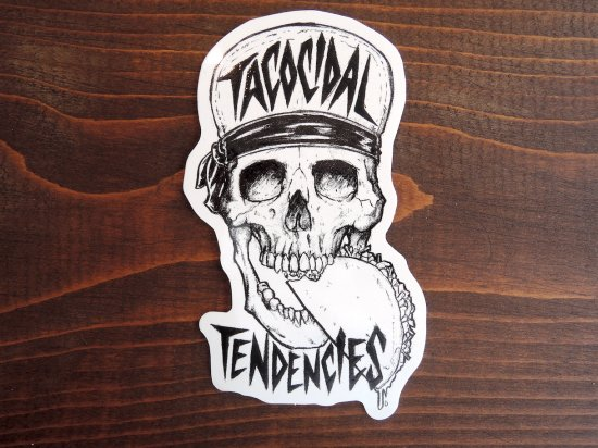 TACOCIDAL TENDENCIES  VINYL STICKER