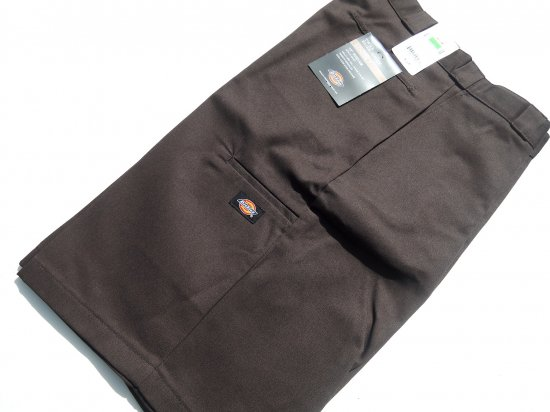Dickies ディッキーズ  42283  Twill Work Short Loose Fit  13in  ショーツ  ブラウン  USA規格