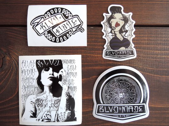 BLVD MADE ブールバードメイド Original Sticker 4 SET  B