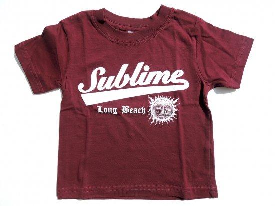 Sublime サブライム KIDS キッズ S/S Tシャツ BURGUNDY バーガンディー