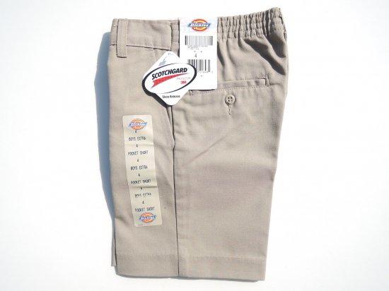 Dickies ディッキーズ   BOYS EXTRA POCKET SHORT PANTS 42362 USA規格 キッズショートパンツ  KHAKI  カーキ