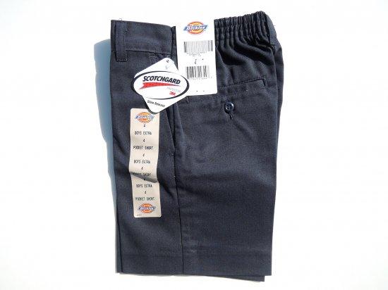Dickies ディッキーズ   BOYS EXTRA POCKET SHORT PANTS 42362 USA規格 キッズショートパンツ  NAVY  ダークネイビー