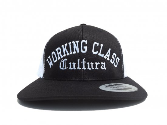 Working Class Cultura ワーキングクラスカルチュラ SNAPBACK スナップバック MESH メッシュ Black x White