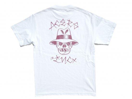 ACERS INC. エーサーズ  VATO SKULL  S/S Tシャツ WHITExBURGUNDY