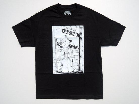 Greenspan's グリーンスパンズ  Art by Raul    S/S Tシャツ BLACK