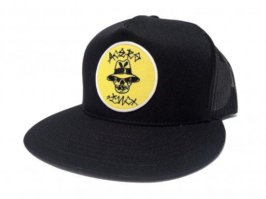 ACERS INC. エーサーズ  Vato Skull  Trucker Hat / Mesh Cap メッシュキャップ BK x YLW  ブラックxイエロー