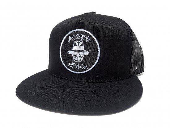 ACERS INC. エーサーズ  Vato Skull  Trucker Hat / Mesh Cap メッシュキャップ BK x BK  ブラックxブラック