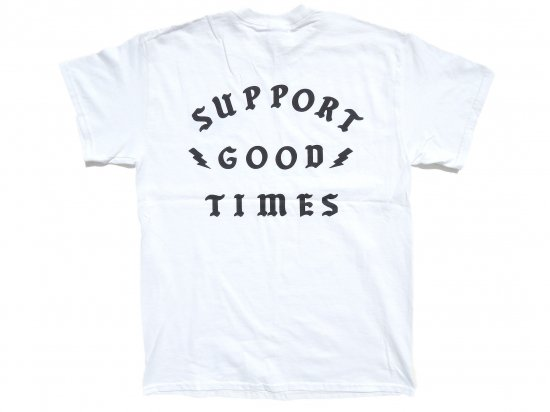 SUPPORT GOOD TIMES x CALIFORNIA SOCIAL CLUB  Collaboration T-Shirt  WHITE