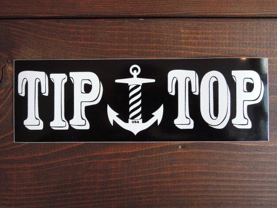 TIP TOP BARBERSHOP チップトップバーバーショップ   OG LOGO STICKER バンパーステッカー