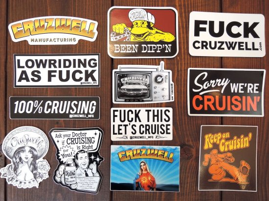 CRUZWELL MFG Sticker Pack ステッカーパック VALUE PACK