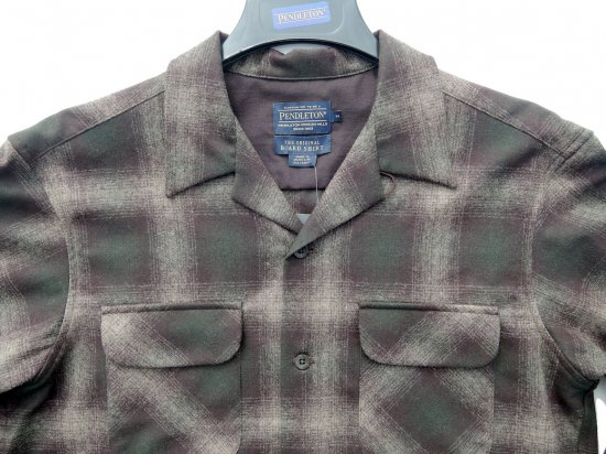 PENDLETON ペンドルトン Board Shirts  GREEN/BROWN OMBRE