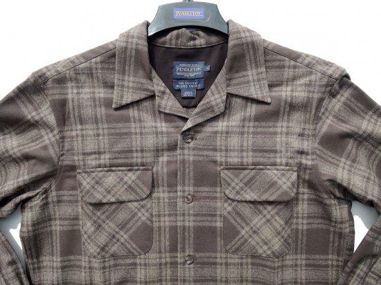 PENDLETON ペンドルトン Board Shirts  BROWN/TAUPE   MIX PLAID