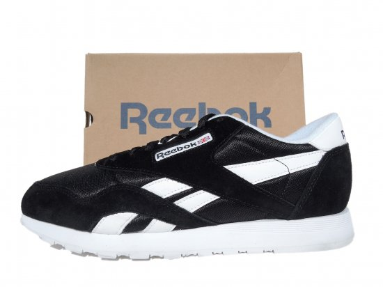 <img class='new_mark_img1' src='//img.shop-pro.jp/img/new/icons15.gif' style='border:none;display:inline;margin:0px;padding:0px;width:auto;' />Reebok リーボック  CLASSIC  NYLON  クラッシック ナイロン BLACK/WHITE   ブラック/ホワイト