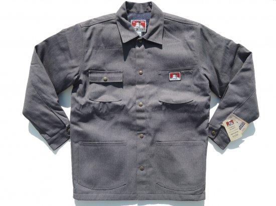 BEN DAVIS ベンデイヴィス ベンデイビス  Original Jacket #391  Charcoal Heather チャコール Front Snap