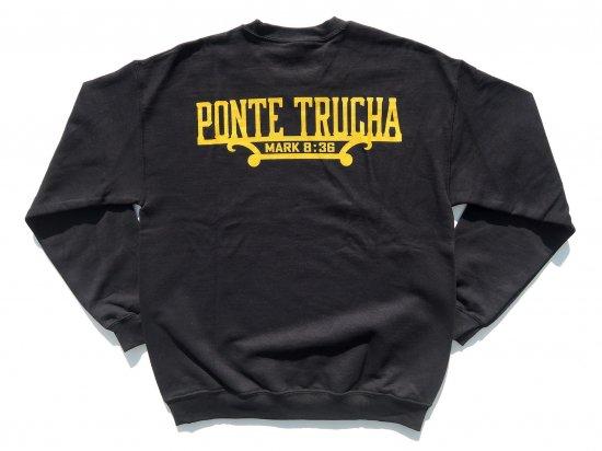 Ponte Trucha Califas  ポンテトゥルチャ Plaque Crewneck Sweatshirts  BLACK ブラック