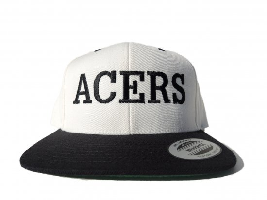 ACERS INC. エーサーズ  LOCALS SnapbackCap White/Black