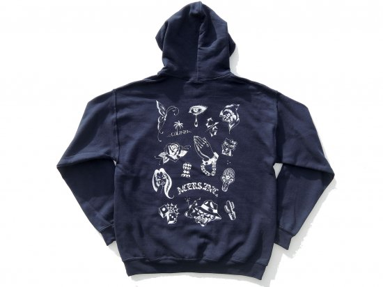 ACERS INC. エーサーズ  TATTOO  FLASH  HOODIE  NAVY ネイビー