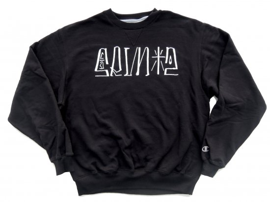 SRVNTZ サーヴァンツ  Placa  *Champion Crewneck Sweatshirts クルースウェット BLACK
