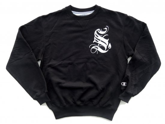 SRVNTZ サーヴァンツ Corner Pocket  *Champion Crewneck Sweatshirts クルースウェット BLACK