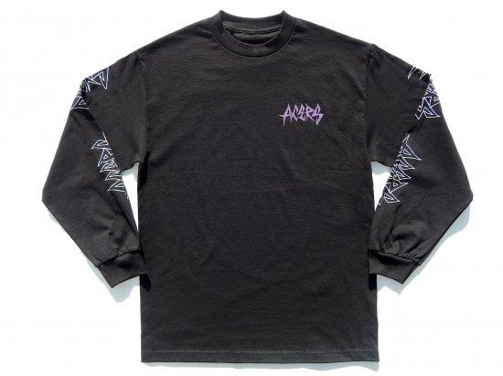 ACERS INC. エーサーズ  THRASH  LONG  SLEEVE   ロングスリーブTシャツ  BLACK