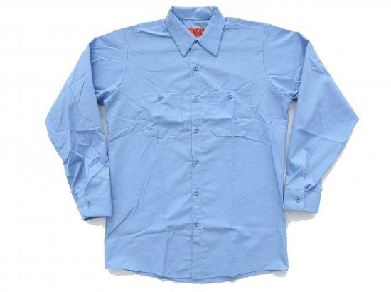 RED KAP  LONG SLEEVE  INDUSTRIAL  WORK SHIRT レッドキャップ  ワークシャツ  SP14  LIGHT BLUE ライトブルー  +カスタムオプション