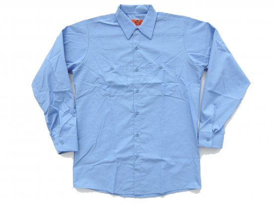<img class='new_mark_img1' src='https://img.shop-pro.jp/img/new/icons53.gif' style='border:none;display:inline;margin:0px;padding:0px;width:auto;' />RED KAP  LONG SLEEVE  INDUSTRIAL  WORK SHIRT レッドキャップ  ワークシャツ  SP14  LIGHT BLUE ライトブルー