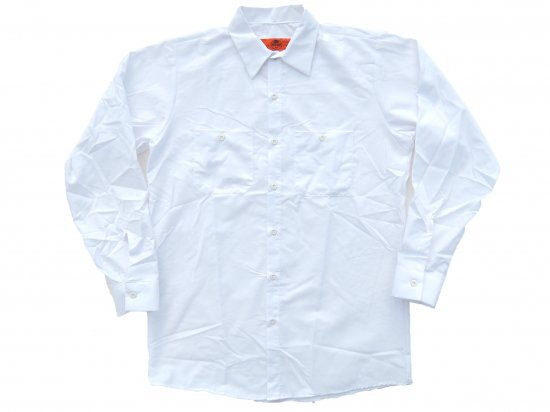<img class='new_mark_img1' src='https://img.shop-pro.jp/img/new/icons15.gif' style='border:none;display:inline;margin:0px;padding:0px;width:auto;' />RED KAP  LONG SLEEVE  INDUSTRIAL  WORK SHIRT レッドキャップ  ワークシャツ  SP14  WHITE  ホワイト +カスタムオプション