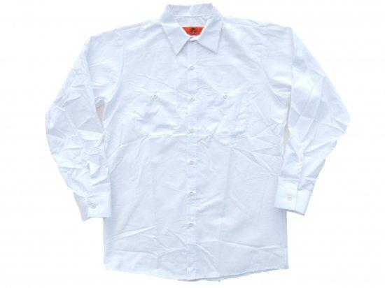 RED KAP  LONG SLEEVE  INDUSTRIAL  WORK SHIRT レッドキャップ  ワークシャツ  SP14  WHITE  ホワイト +カスタムオプション