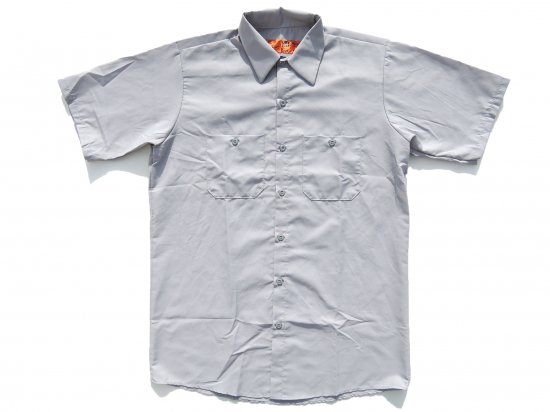 RED KAP  SHORT  SLEEVE  INDUSTRIAL  WORK SHIRT レッドキャップ  半袖ワークシャツ  SP24  SILVER GREY シルバー +カスタムオプション