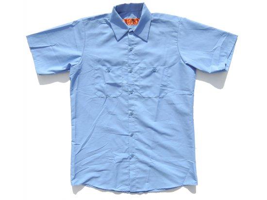 RED KAP  SHORT  SLEEVE  INDUSTRIAL  WORK SHIRT レッドキャップ  半袖ワークシャツ  SP24  LIGHT BLUE  +カスタムオプション