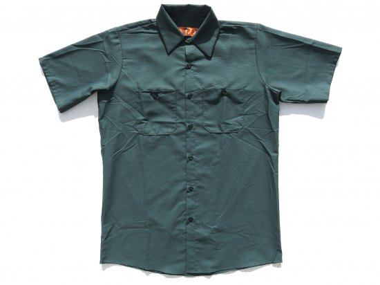 <img class='new_mark_img1' src='https://img.shop-pro.jp/img/new/icons53.gif' style='border:none;display:inline;margin:0px;padding:0px;width:auto;' />RED KAP  SHORT  SLEEVE  INDUSTRIAL  WORK SHIRT レッドキャップ  半袖ワークシャツ  SP24  SPRUCE GREEN グリーン
