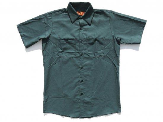RED KAP  SHORT  SLEEVE  INDUSTRIAL  WORK SHIRT レッドキャップ  半袖ワークシャツ  SP24  SPRUCE GREEN グリーン +カスタムオプション