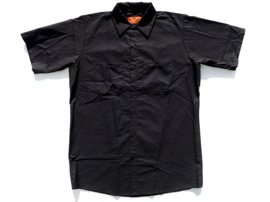 RED KAP  SHORT  SLEEVE  INDUSTRIAL  WORK SHIRT レッドキャップ  半袖ワークシャツ  SP24  BLACK  ブラック +カスタムオプション