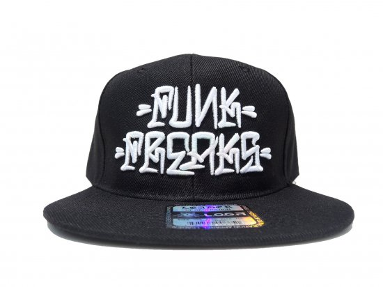 FUNK FREAKS ファンクフリークス   Eksen Flare  Snapback スナップバック  Black