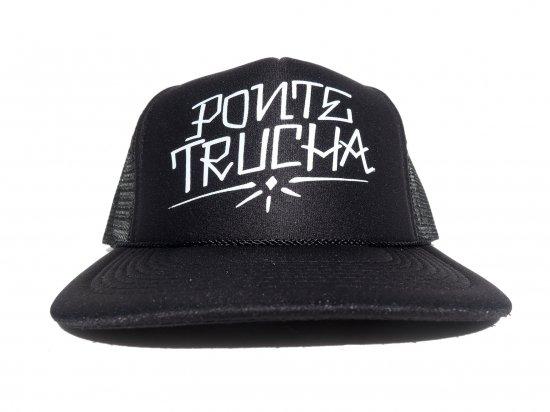 Ponte Trucha Califas  ポンテトゥルチャ Tribute to Teen Angel Trucker Hat  BLACK
