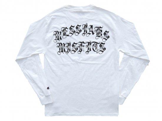 SRVNTZ サーヴァンツ Messiahs Misfits * Champion    L/S Tシャツ  ロンT  WHITE