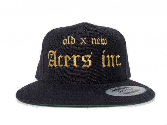 ACERS INC. エーサーズ   OG  HATS  BLACKxGOLD