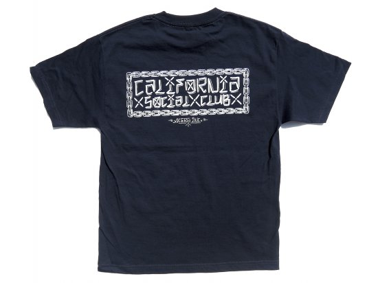California Social Club CxSxC  S/S  Tシャツ  NAVY
