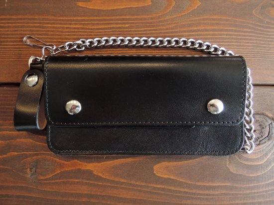 LEATHER  CHAIN  WALLET  チェーンつきロングウォレット ブラック USA製