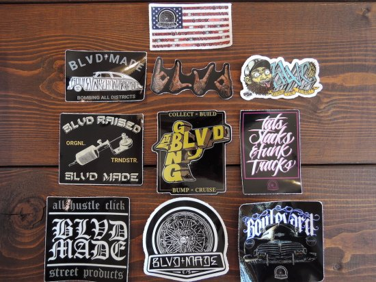 BLVD MADE ブールバードメイド STICKER 10PCS PACK