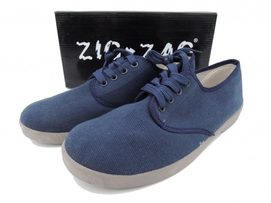 ZIG ZAG  Winos Shoes Lace Up レースアップ  Navy ネイビー x Grey sole