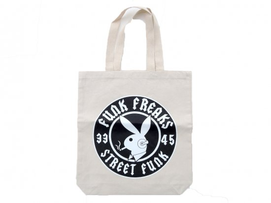 FUNK FREAKS ファンクフリークス  STREET BADGE RECORDS TOTE BAG  NATURAL