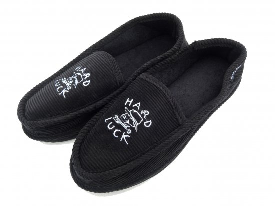HARD LUCK ハードラック Hard Times House Slippers BLACK ハウスシューズ