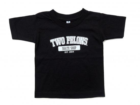TWO FELONS SKATE SHOP ツーフェロンズ  TEAM S/S  KIDS  TEE  Black ブラック キッズサイズ