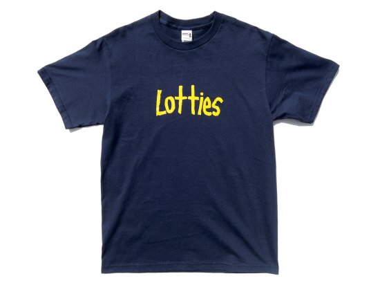 Lotties Skateshop  ロッティーズ  スケートショップ  Navy Logo  S/S T-SHIRT